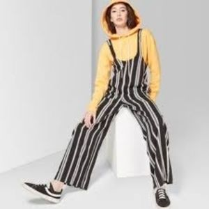 Striped Strappy Scoop Neck Jumpsuit